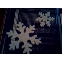 Moldes Flexibles Copo De Nieve Frozen Gde