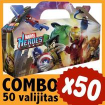 Superheroes Lego Marvel Cajita Valijita Bolsita Combo X 50