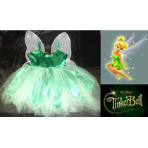 Vestido Disfraz Tinker Bell / Campanita + Alas