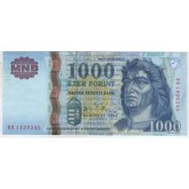 Billete Hungria 1000 Forint 2006 Pick 195b S/c