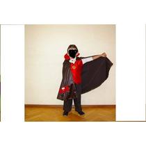 Disfraz Conde Dracula Capa Chaleco Shabooy Dientes Halloween