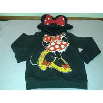 Buzo Original Dsny Minnie Mouse Con Capucha, Orejitas Y Moño