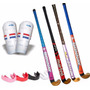Kit Hockey Palo Donnay + Canilleras + Protector Bucal Combo