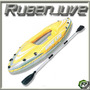 Kayak Inflable Reforzado Con Remos De Aluminio Hasta 100kg