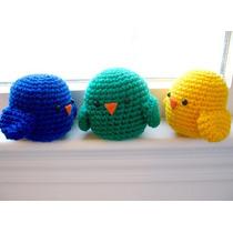 Pollitos X 10 Tejidos Crochet Artesanal Souvenir Nacimiento