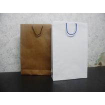 Bolsas 45 X 60 X 13 Papel Lisas Marron Y Blancas Pack X 10