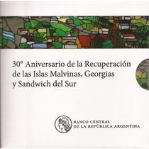 Blister 30 Aniversario De Malvinas Moneda 2 Pesos Canto Liso