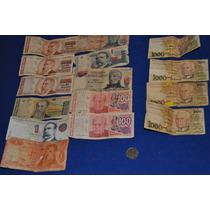 11 Billetes Argentina Y 4 Cruzeiros 1 Moneda Boliviano