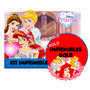 Kit Imprimible Princesas Disney Diseñá Tarjetas , Cumples