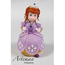 Princesita Sofía Adorno Para Torta En Porcelana Fría