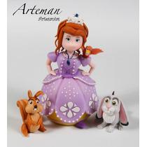 Princesita Sofía Y Sus Amigos Adorno En Porcelana Fría