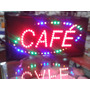 Cartel Luminoso Led Con El Texto Café