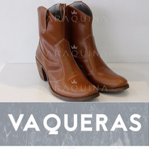 Zapatos Vaqueras Cuero Mujer - Inkas Iria - Araquina