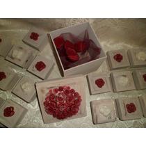 Cajitas Decoradas Con Rosas, Ideal 15 Años,bodas,aniversario