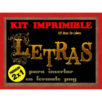 Kit Dorado Y Brillos Alfabeto De Letras 2x1 Mas 4 Pack