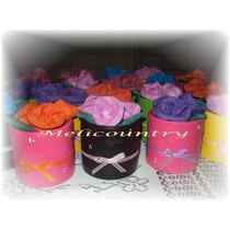 Muñecos Country Delicadas Cajitas Con Flores De Tela