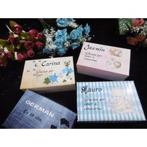 10 Cajitas Souvenirs +jabon + Toalla...personalizados