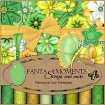Kit Imprimible Green Paradise Scrap+ Elementos + Papeles