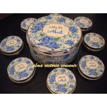 Souvenir 15 Latas Pastilleros Personalizadas 7,5x2 Por 10 U