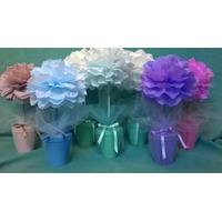 Arbol Topiario X 4u. En Flores De Papel - Eventos/ Souvenir