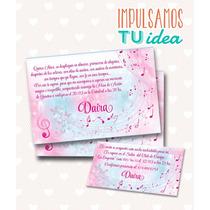 Tarjeta De Quince - Invitación De 15 Música Para Imprimir