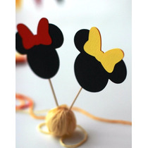 Cupcake Toppers Minnie - Mickey