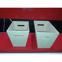 Porta Cosméticos Rectos Fibrofacil X5 Uni. Super Prolijos...
