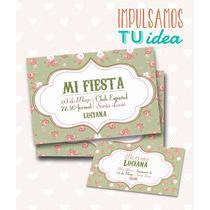 Tarjeta De 15 Para Imprimir - Invitación Y Personal Luciana