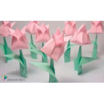 Pack_ 5 Centros Mesa+ 40 Souvenirs Rosas O Tulipanes Origami