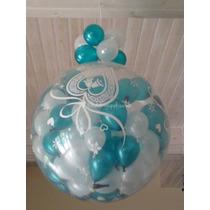 Piñata Burbuja Cristal 30 Globitos Con Tus Dijes Englobados