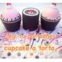 50 Dijes Cintas + Porta Dijes Cupcake Gigante15 Años+ Anillo