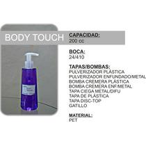 Envase Body Touch 200 Cc Pet Pulverizador Esencias Perfumes