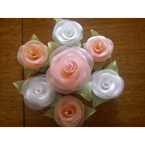 Rosas Velas Para Centros De Mesa. X 15 Unidades