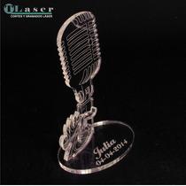 Souvenir 15 Años Microfono Con Nombre Grabado