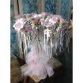 15 Rosas Para Ceremonia De Velas Con Atril Decorado