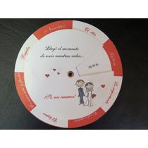 25 Invitaciones Giratorias Tarjetas De Casamiento, 15 Años