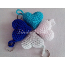 Corazones A Crochet Souvenirs, Regalo, Decoración