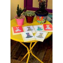 12 Tarjetas Origami Vestidos / Diseños Vintage