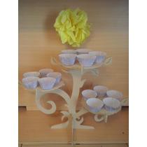 Porta Cupcakes Fibrofacil Arbol Sin Pintar Original Delicado