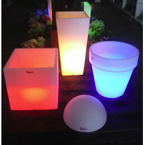 Maceta Cubo Luminoso N 25completa Ideal Para Fiestas Evento