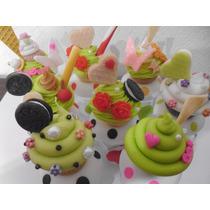 Souvenirs Frasquitos Porcelana Fria Cupcakes 15 Años, 1 Año
