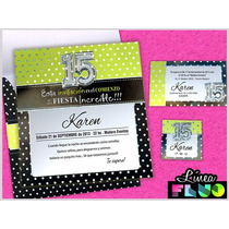 Invitaciones Para 15 Años Tarjetas De 15 Animal Color Fluor