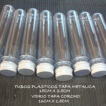 Tubos De Ensayo Plastico T / Metalica 100 X $