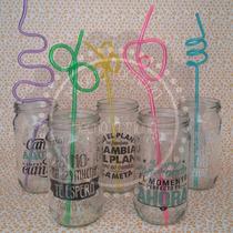 Souvenirs Frasco Vaso Vidrio Decorado Sorbete Forma Color