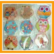 Souvenir Iman Ceramica Buho Lechuzas Personalizados