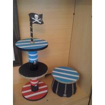 Porta Cupcakes Torre Jack Y Los Piratas Marinero Barco