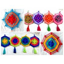 Souvenirs Atrapasueños Mandala Tejido18x28cm Con Borla Movil