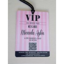 Invitaciones Acceso Vip - 15 Años - Qrcode
