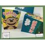 Souvenir Evento Caja Personalizada Pochoclo Mono Bubba