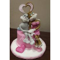 Adorno Pareja De Bodas Bugs Bunny Porcelana Fria